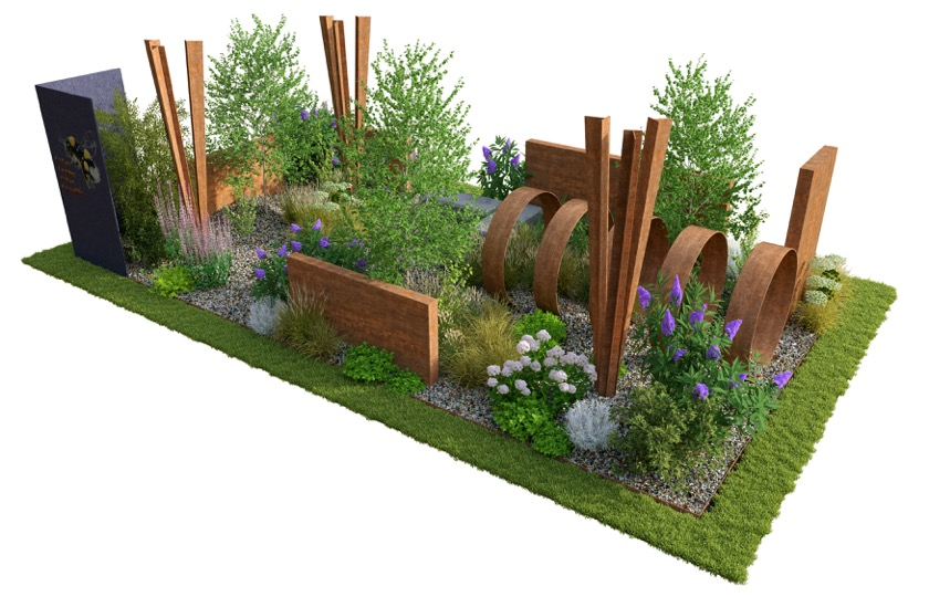 Brownfield Metamorphosis show garden by Martyn Wilson for RHS Hampton