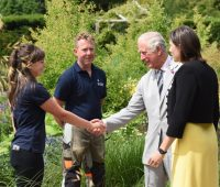 The Prince of Wales opens new Centenary Garden at Hampshire's Exbury Gardens