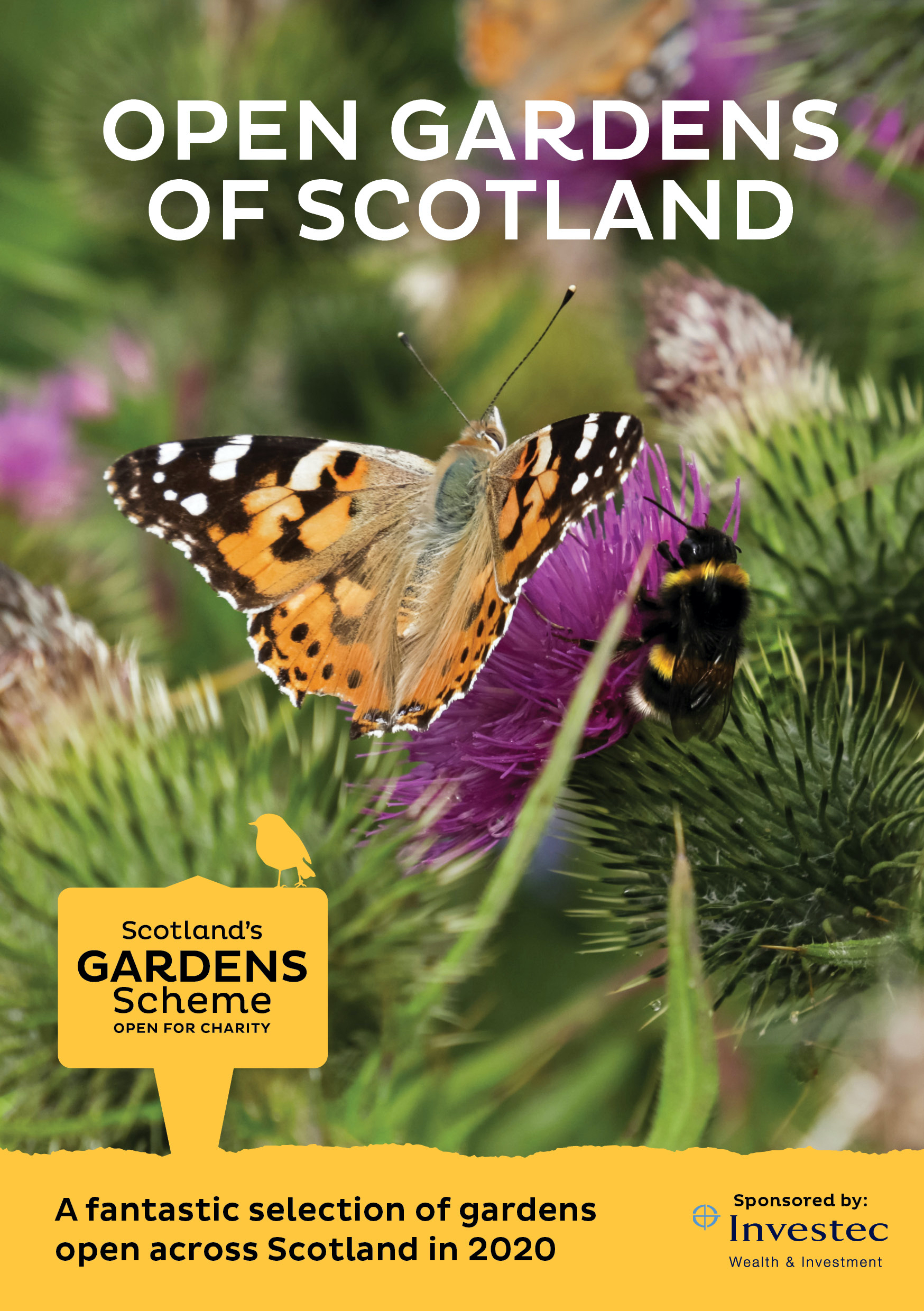 Birds, bees, butterflies and brilliant wee beasties: wildlife and biodiversity in Scotland's open gardens to be celebrated in 2020