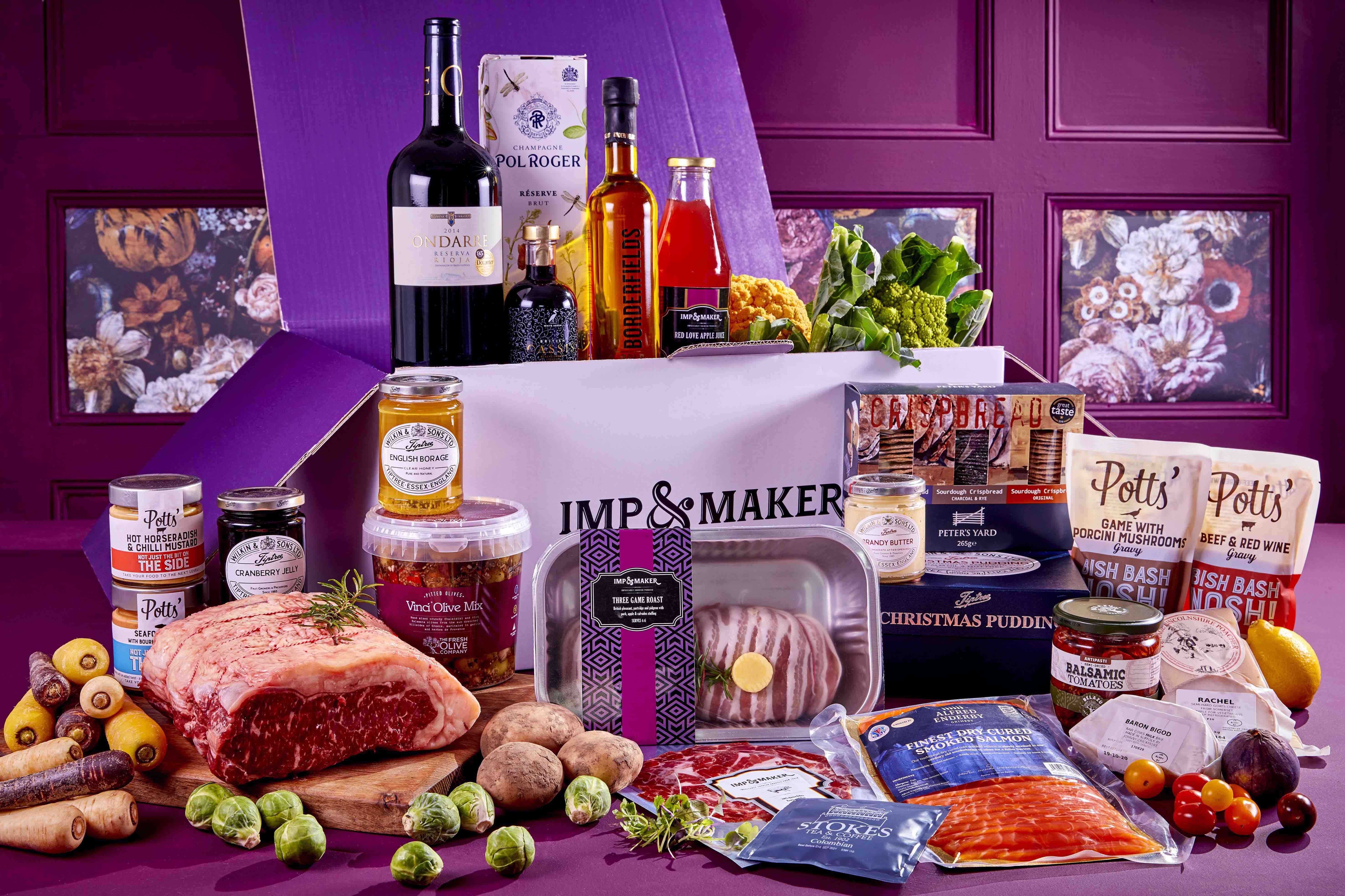 Luxury hamper IMP & MAKER Festive Showstopper Collection